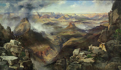 Canyon Painting - Grand Canyon Of The Colorado River by Thomas Moran