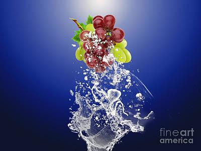 Grape Splash Art Print