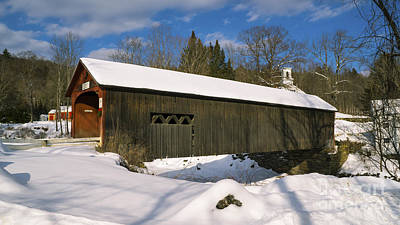 Photograph - Green River Covered Bridge by Scenic Vermont Photography