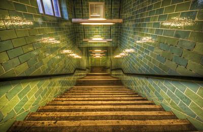 Green Stairs Art Print