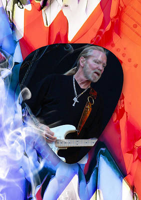 The Allman Brothers Mixed Media - Gregg Allman Art by Marvin Blaine