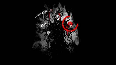 Curve Digital Art - Grim Reaper by Maye Loeser
