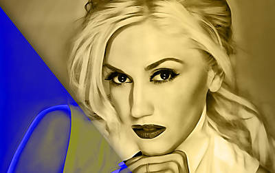 Gwen Stefani Collection Art Print by Marvin Blaine