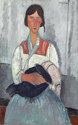 Painting - Gypsy Woman With Baby by Amedeo Modigliani