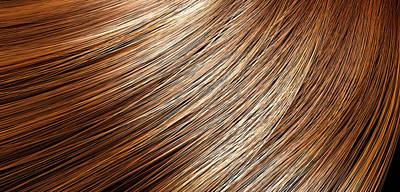 Hairstyle Digital Art - Hair Blowing Closeup by Allan Swart