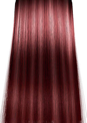 Isolated Digital Art - Hair Perfect Straight by Allan Swart