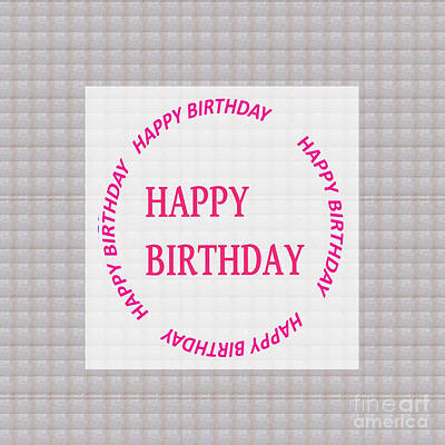 Painting - Happy Birthday Emblem See On Pillows Curtains Duvet Covers T-shirts Phone Cases Greeting Cards by Navin Joshi