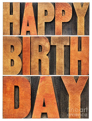 Photograph - Happy Birthday Greeting Card by Marek Uliasz