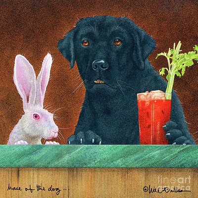 Painting - Hare Of The Dog by Will Bullas