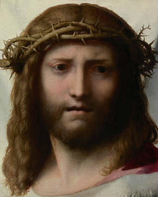 Mannerism Painting - Head Of Christ by Correggio