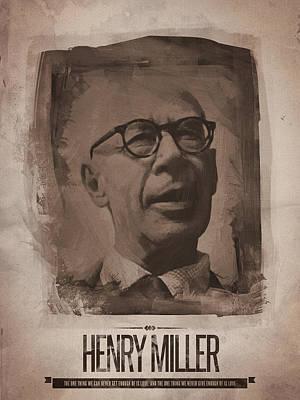 Henry Digital Art - Henry Miller 02 by Afterdarkness