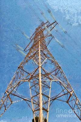 Grid Painting - High Voltage Pylon by George Atsametakis