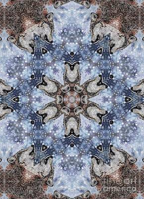 Mccombie Mixed Media - Howling Gray Wolf Kaleidoscope by J McCombie