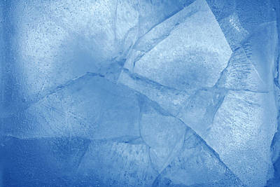 Ice Art Print by Les Cunliffe