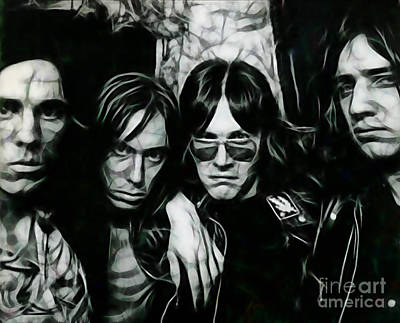 Iggy And The Stooges Collection Print by Marvin Blaine
