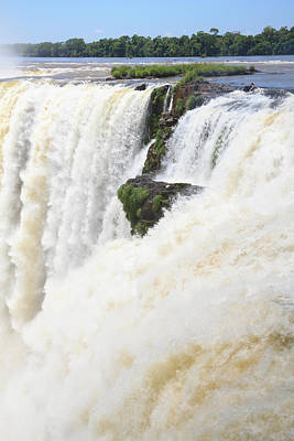 Art Print featuring the photograph Iguazu Falls by Silvia Bruno
