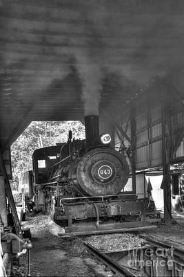 Photograph - In The Engine Shed Steaming Up by Paul W Faust - Impressions of Light