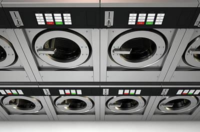 Industrial Washing Machine Art Print