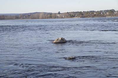 Railroad - Inukshuks on the Ottawa River 27 by Bob Corson