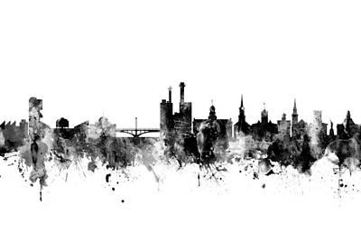 Iowa Digital Art - Iowa City Iowa Skyline by Michael Tompsett