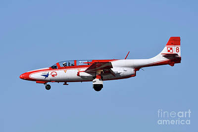 Airplane Photograph - Iskra Polish Air Force Team by George Atsametakis