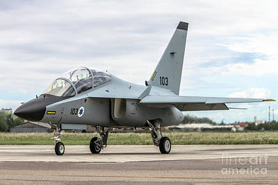 Israeli Air Force Alenia Aermacchi M-346 Master Art Print by Amos Dor