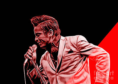 Jackie Wilson Collection Art Print by Marvin Blaine