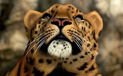 Cats Digital Art - Jaguar by Super Lovely