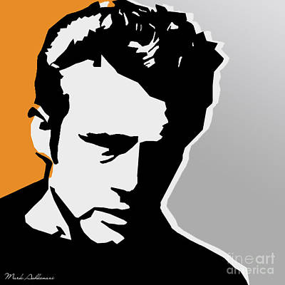 Dean Digital Art - James Dean  by Mark Ashkenazi