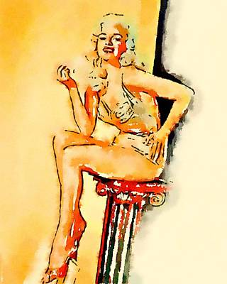 Pussy Painting - Jayne Mansfield By Frank Falcon by Frank Falcon