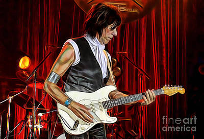 Mixed Media - Jeff Beck Collection by Marvin Blaine