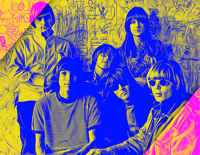 Grace Slick Mixed Media - Jefferson Airplane Collection by Marvin Blaine