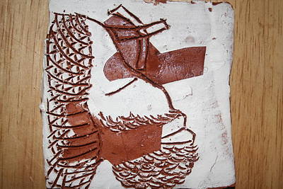 Ceramic Art - Jesus Christ - Tile by Gloria Ssali