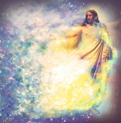 The Resurrection Of Christ Digital Art - Jesus Christ by Elena Kosvincheva