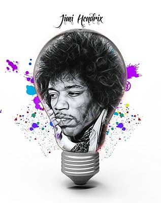 Mixed Media - Jimi Hendrix Electric by Marvin Blaine