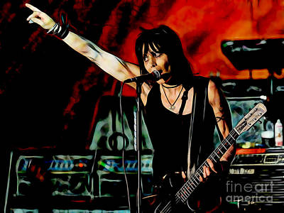 Hip Mixed Media - Joan Jett Collection by Marvin Blaine