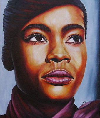 Painting - Josie by Shahid Muqaddim
