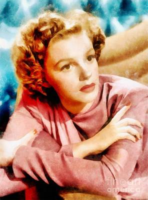 Musicians Royalty-Free and Rights-Managed Images - Judy Garland by John Springfield by John Springfield