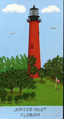 Painting - Jupiter Inlet Lighthouse by Frederic Kohli
