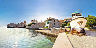Photograph - Kastel Gomilica Waterfront Panoramic View by Brch Photography