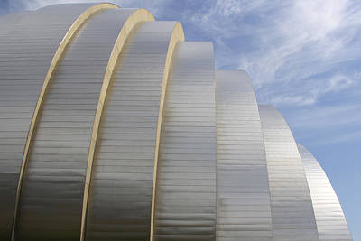 Kauffman Center For Performing Arts Art Print by Mike McGlothlen