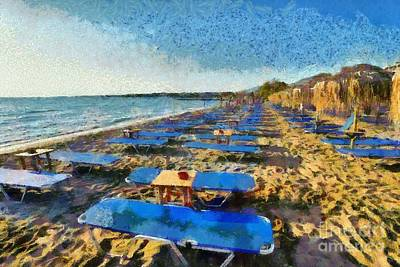 Painting - Kavouri Beach by George Atsametakis