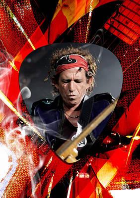 Fender Mixed Media - Keith Richards Art by Marvin Blaine