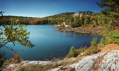 Vivid Fall Colors Photograph - Killarney Provincial Park In Fall by Oleksiy Maksymenko