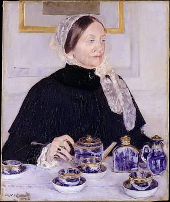 Lady At The Tea Table Original
