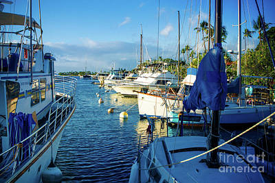 Lahaina Harbour Maui Hawaii Art Print by Sharon Mau