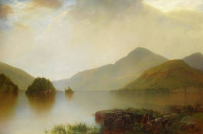 Lake George Art Print by John Frederick Kensett