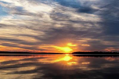 Photograph - Lake Sunset by Doug Long