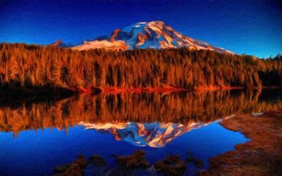 Sun Digital Art - Landscape Scenes by Victoria Landscapes
