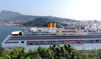 Photograph - Large Cruise Ship Enters Kaohsiung Port by Yali Shi